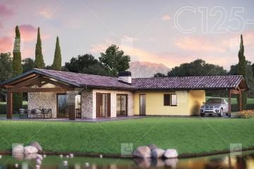 Modello Casa in Legno C125-E | Linea Elegance di COSTANTINI LEGNO - L.A. COST