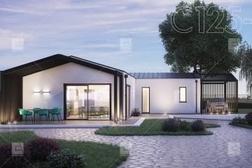 Modello Casa in Legno C125-S | Linea Stile di COSTANTINI LEGNO - L.A. COST