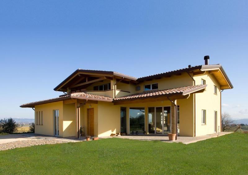 Casa in legno modello umbria di costantini legno l a cost for Case in legno senza fondamenta