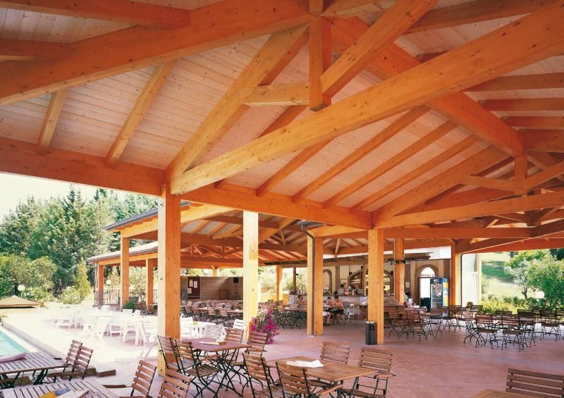 Strutture ricettive (hotel, villaggi) in legno COSTANTINI LEGNO - L.A. COST Golf club Gavorrano