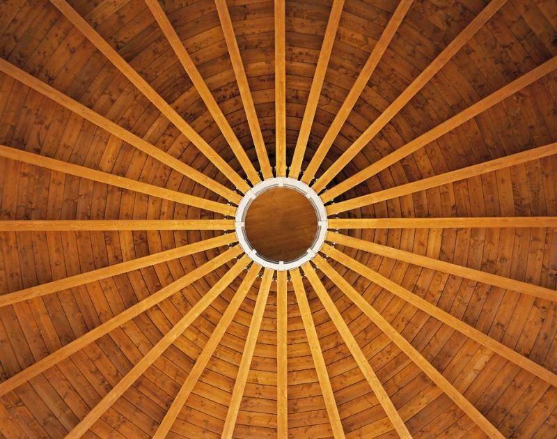 Edificio pubblico scuola chiesa in legno modello chiesa for Lacost case in legno