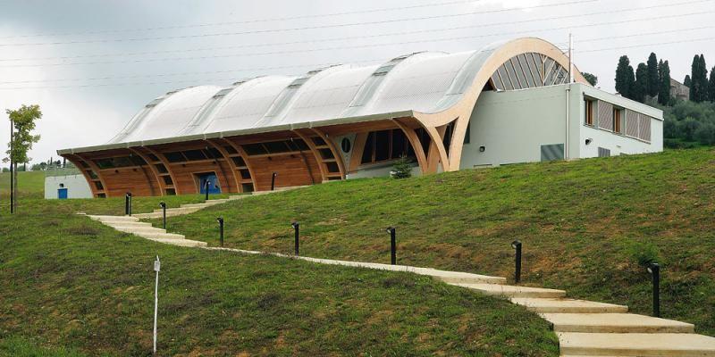 Edifici Pubblici (scuole, chiese) in legno COSTANTINI LEGNO - L.A. COST Centro Sportivo Università di Siena