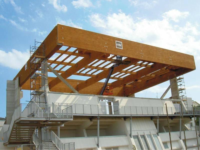 Strutture ricettive (hotel, villaggi) in legno COSTANTINI LEGNO - L.A. COST  Palazzetto dello sport – Roseto degli Abruzzi