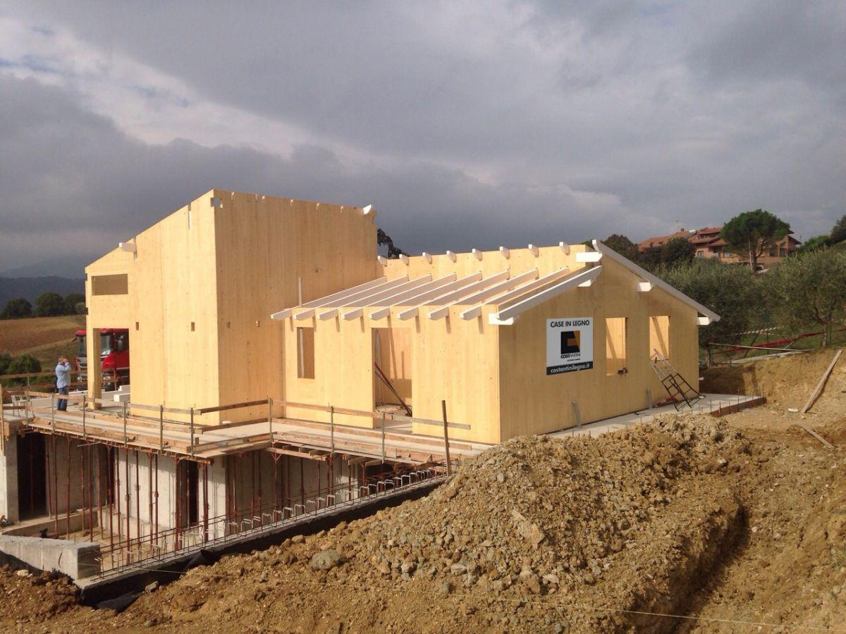 Casa in legno modello casa a un piano gubbio di for Cost case in legno