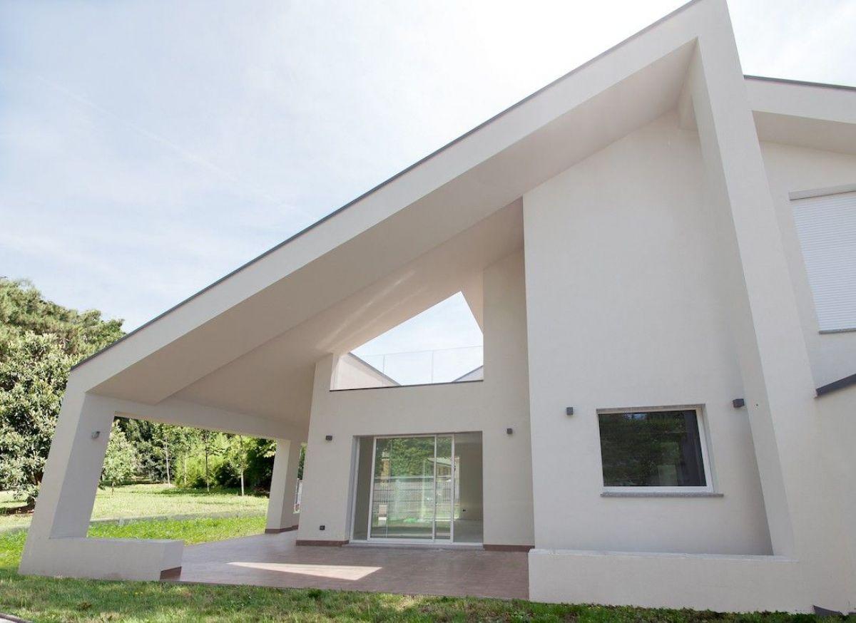 Casa in legno modello casa moderna a busto arsizio - Casa legno moderna ...