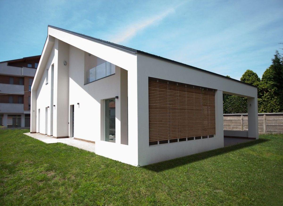 Casa in legno modello casa moderna a busto arsizio for Piccola casa moderna progetta un piano