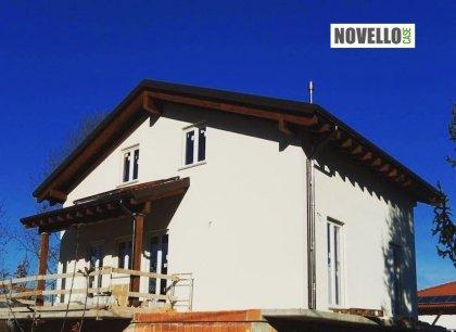 Casa in legno modello sopraelevazione in legno a cuneo di