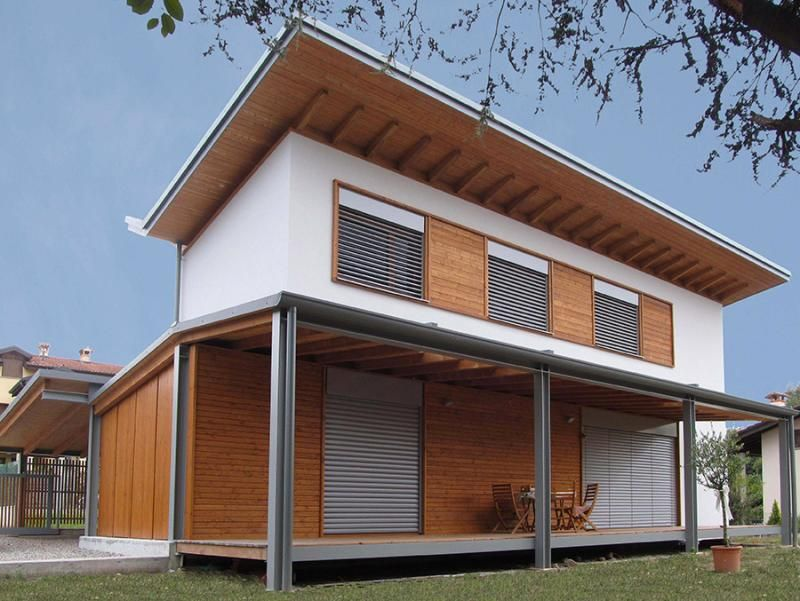 Casa in legno modello casa in legno a varese di for Case prefabbricate ecosostenibili