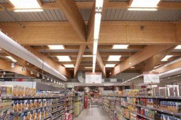 Strutture ricettive (hotel, villaggi) in Legno: Supermercato-legno-lamellare