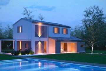 Modello Casa in Legno Lione C3+2 di BIO-HOUSE