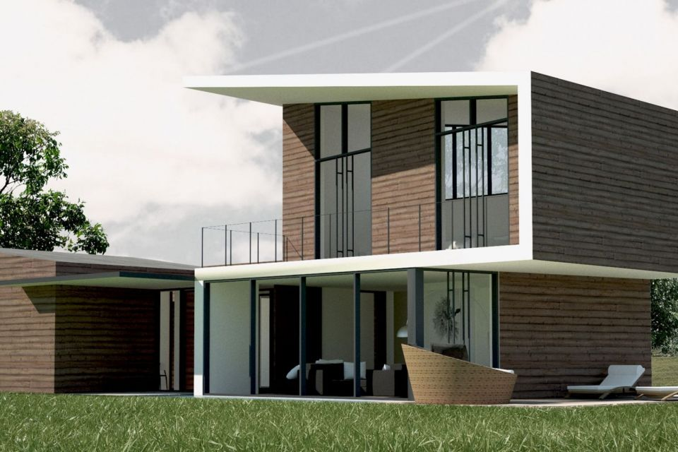 Casa in Legno in stile Moderno: Villa contemporanea