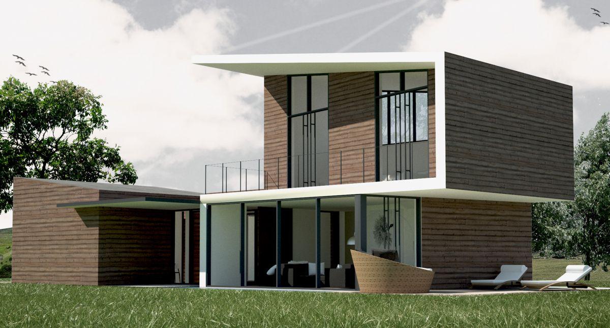 Casa in legno modello villa contemporanea di building for Case contemporanee