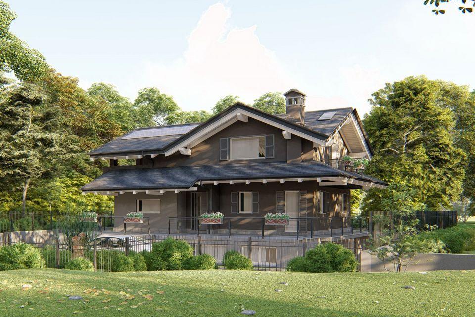 Casa in Legno in stile Classico: Gressan (Aosta)