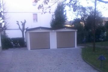 Box Auto in Legno: Doppio box auto prefabbricato