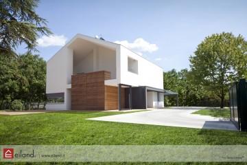 Realizzazione Casa in Legno Eiland a Lonigo VI di Eiland srlu