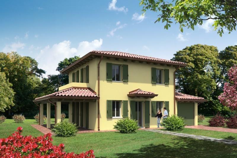 Casa in legno modello modello classica di arconord for Casa clasica srl