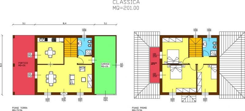 Casa in legno modello modello classica di arconord for Casa classica srl