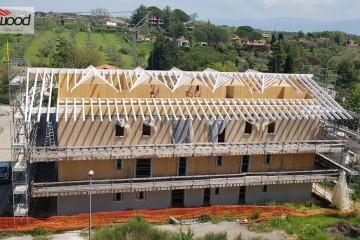 Realizzazione Condominio in Legno Multipiano in Xlam a Sacrofano (RM) di Technowood
