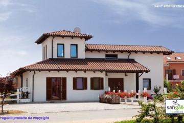 Realizzazione Casa in Legno Casa in bioedilizia costruita su progetto /Sant' Albano Stura (CN) di Sangallo S.r.l.