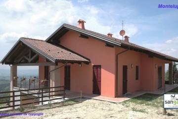 Modello Casa in Legno Casa in bioedilizia costruita su progetto /Montelupo Albese (CN) di sangallo srl