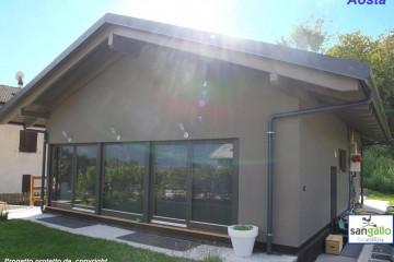 Modello Casa in Legno Casa in bioedilizia costruita su progetto /Aosta (AT) di sangallo srl