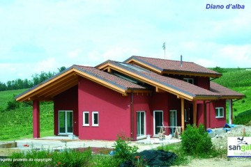 Modello Casa in Legno Casa in bioedilizia costruita su progetto /Diano D'Alba (CN) di sangallo srl