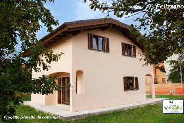Modello Casa in Legno Casa in bioedilizia costruita su progetto /Felizzano (TO) di sangallo srl