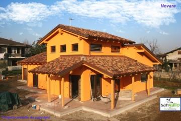 Modello Casa in Legno Casa in bioedilizia costruita su progetto /Novara (NO) di sangallo srl