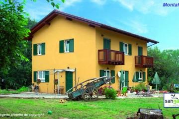 Modello Casa in Legno Casa in bioedilizia costruita su progetto /Montafia (AT) di sangallo srl