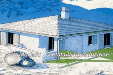Modello Casa in Legno su progetto da noi proposto  modificabile RE 90 di Sangallo S.r.l.