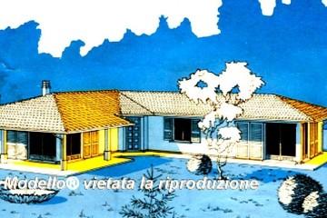 Modello Casa in Legno Su progetto da noi proposto  modificabile   RE 147 di Sangallo S.r.l.