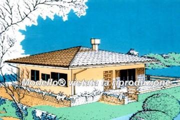 Modello Casa in Legno su progetto da noi proposto  modificabile RE 138 di Sangallo S.r.l.