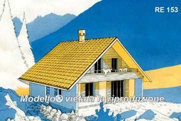 Modello Casa in Legno Su progetto da noi proposto  modificabile   RE 153 di sangallo srl
