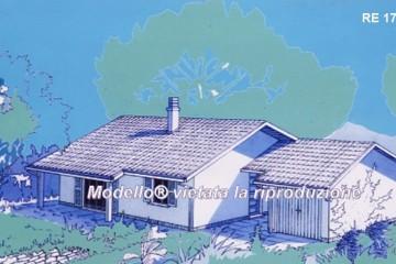Modello Casa in Legno Su progetto da noi proposto  modificabile   RE 174 di sangallo srl
