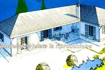 Modello Casa in Legno Su progetto da noi proposto  modificabile  RE 183 di Sangallo S.r.l.