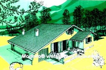 Modello Casa in Legno Su progetto da noi proposto  modificabile  RE 220 di Sangallo S.r.l.
