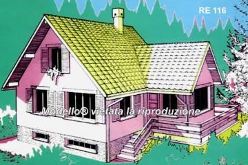 Modello Casa in Legno Su progetto da noi proposto  modificabile  RE 116 di sangallo srl