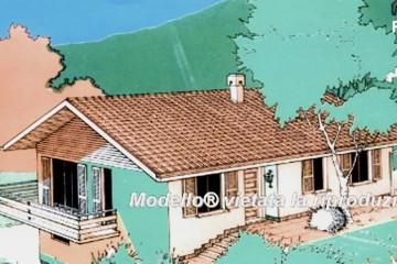 Modello Casa in Legno Su progetto da noi proposto  modificabile   RE 139 di Sangallo S.r.l.