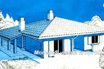 Modello Casa in Legno Su progetto da noi proposto  modificabile   RE 143 di Sangallo S.r.l.