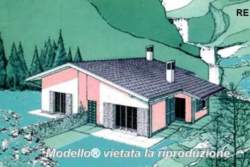 Casa in Legno Su progetto da noi proposto  modificabile   RE 144