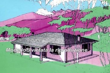 Casa in Legno Su progetto da noi proposto  modificabile   RE 155