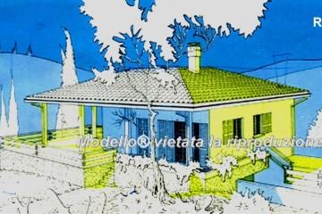 Modello Casa in Legno su progetto da noi proposto  modificabile  RE 167 di Sangallo S.r.l.