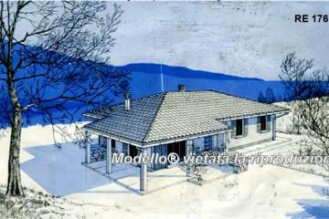 Modello Casa in Legno Su progetto da noi proposto  modificabile  RE 176 di Sangallo S.r.l.
