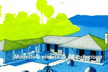 Modello Casa in Legno Su progetto da noi proposto  modificabile  RE 287 di sangallo srl