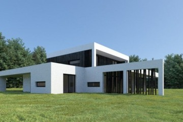 Casa in Legno Casa a progetto moderna
