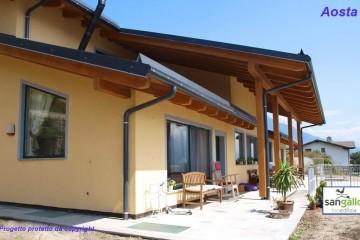 Realizzazione Casa in Legno Casa in bioedilizia costruita su progetto /Aosta (AO) di Sangallo S.r.l.