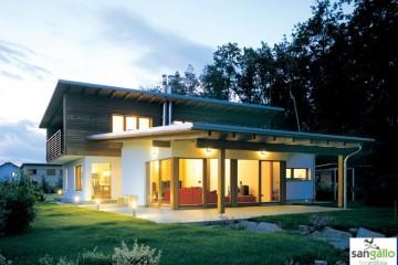 Modello Casa in Legno Casa in bioedilizia costruita su progetto /Altea di sangallo srl