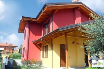 Modello Casa in Legno Casa in bioedilizia costruita su progetto /Bergamo (BG) di sangallo srl
