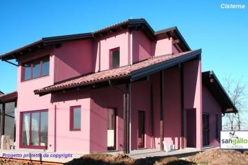 Modello Casa in Legno Casa in bioedilizia costruita su progetto /Cisterna (AT) di sangallo srl