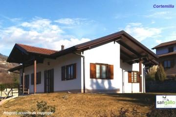 Modello Casa in Legno Casa in bioedilizia costruita su progetto /Cortemilia (CN) di sangallo srl
